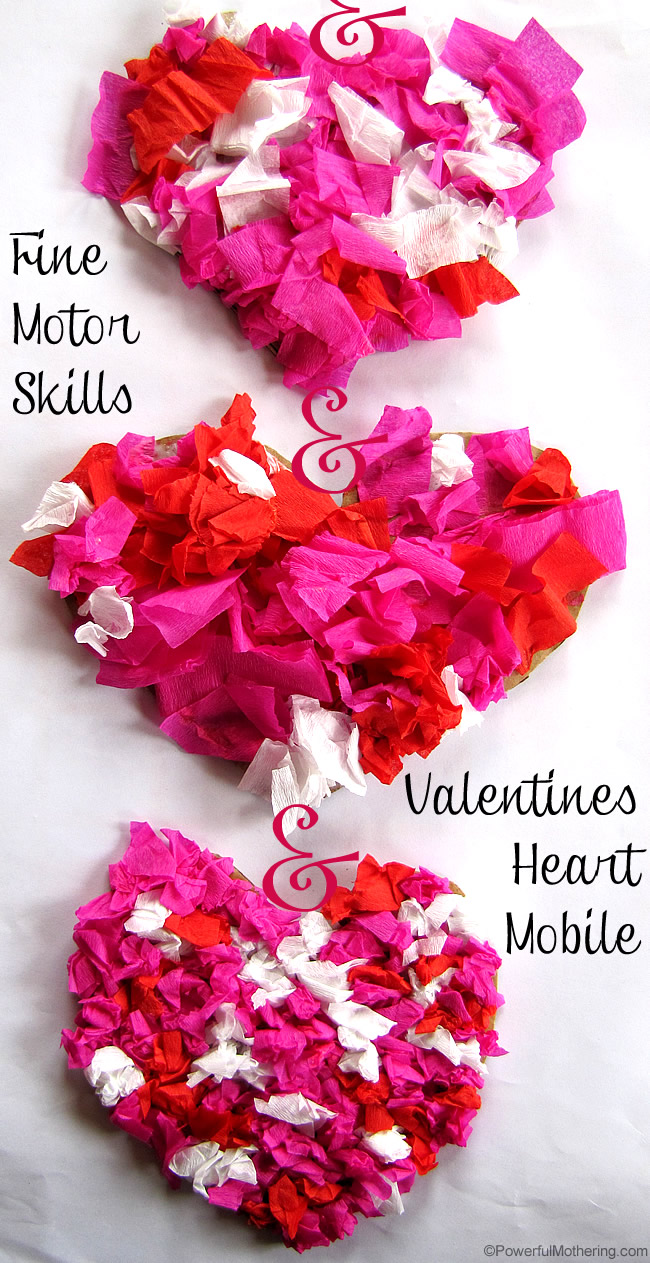 Heart Mobile Valentines Craft