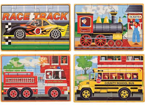 Deluxe Vehicles in a Box Jigsaw Puzzles