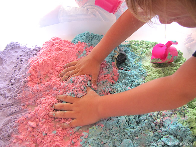 Homemade Cloud Dough - so nice to touch, great for sensory play