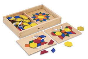 Melissa Doug Pattern Blocks and Boards