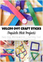 Velcro Dot Craft Sticks (Popsicle Stick Projects)
