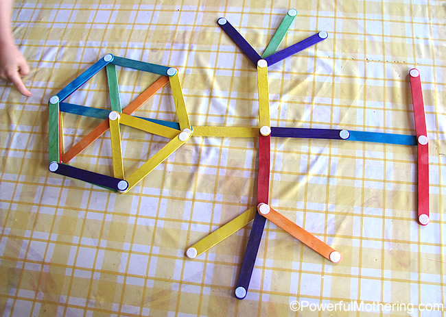 a little craft stick man - popsicle stick project