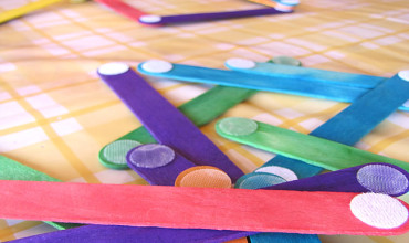 craft stick open play with velcro dots
