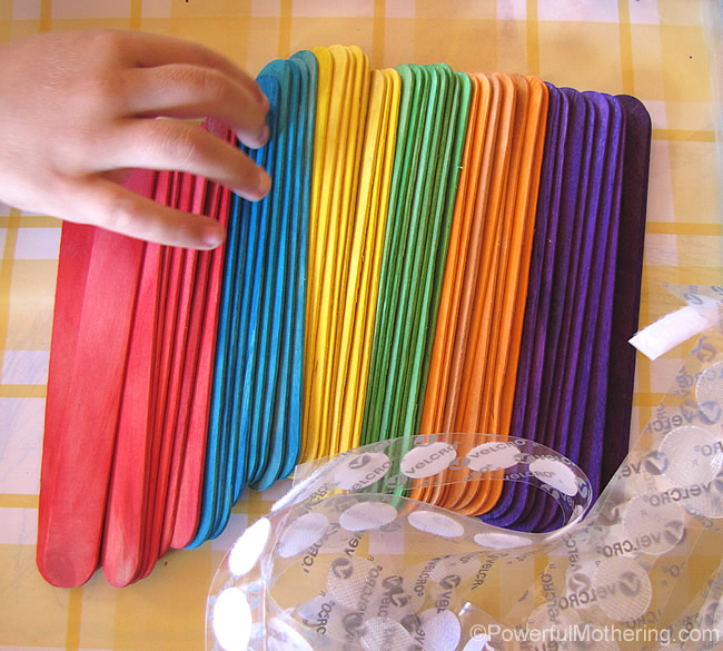 craft supplies to make velcro sticks