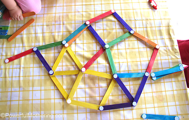 free play with velcro dot craft sticks aka popsicle stick shapes