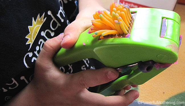 garlic press for playdough play