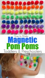 Magnetic Pom Poms for Toddlers & Preschoolers