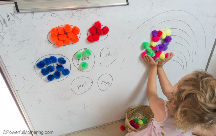 Magnetic Pom Poms For Toddlers And Preschoolers