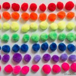 Rainbow Of Pom Poms Colors