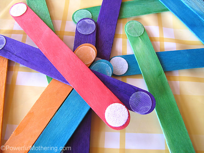 velcro dot sticks