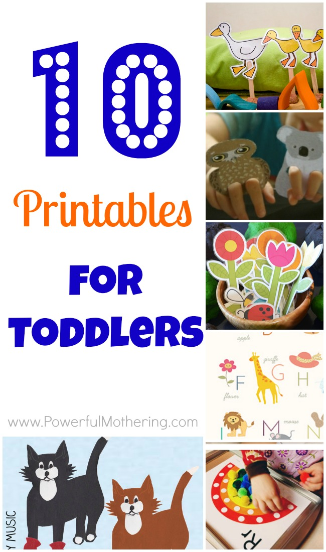 10 printables for toddlers - Toddler Activities Printables