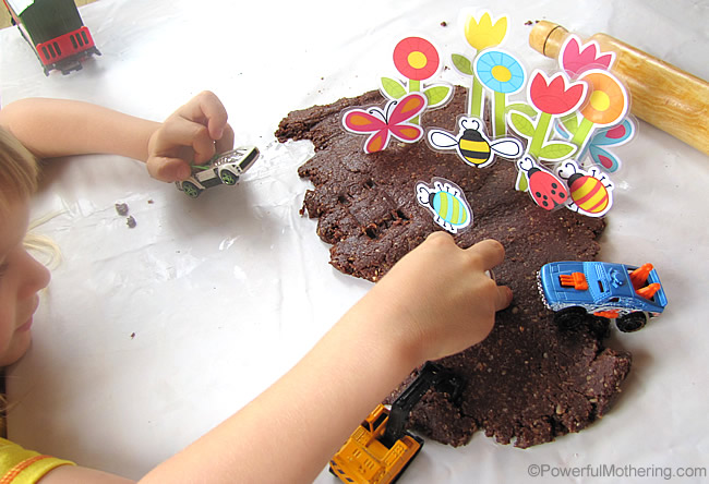 Chocolate Oat Cookies turned Edible Play Dough