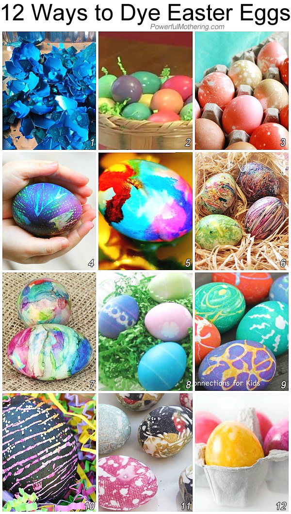 How to dye Easter eggs -12 different ways!