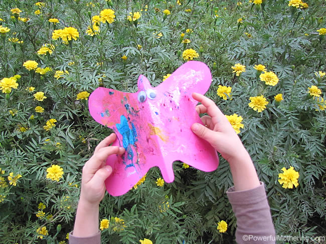 Spring Butterfly Art and Garden Play