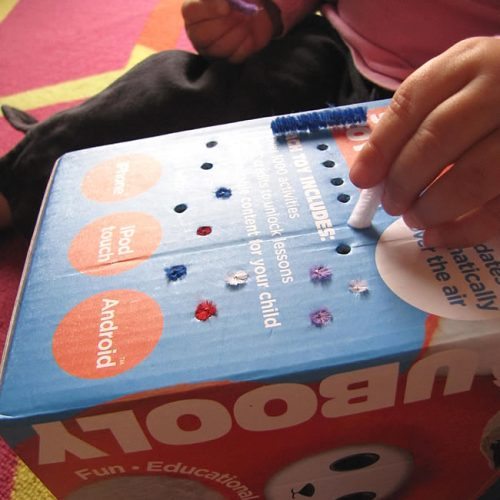 easy box and pipe cleaner fine motor skills