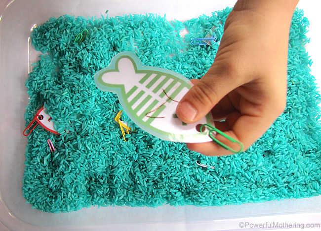 fishing for numbers and colors in color rice