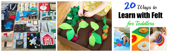 20 ways to learn with felt for toddlers veg and quiet books