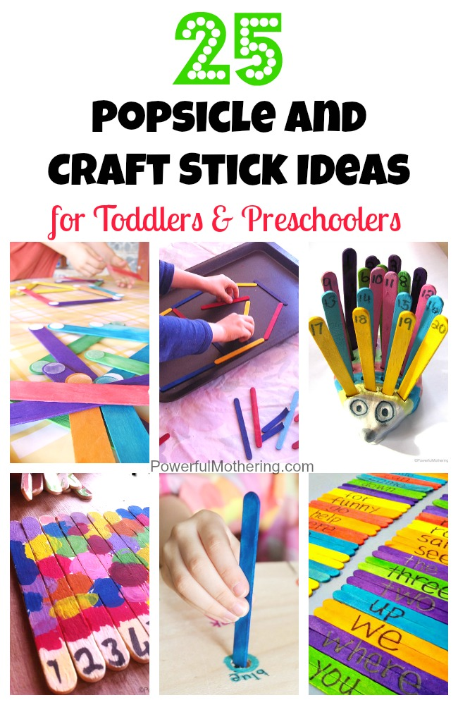25 popsicle and craft stick ideas for toddlers and preschoolers ccuart Image collections