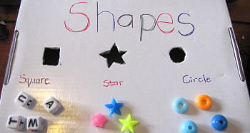DIY shape sorter with beds