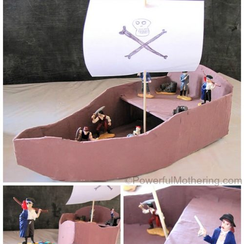 DIY Pirate Ship with Pirates and Treasure!