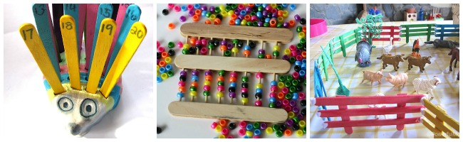 diy toys and learning with craft sticks