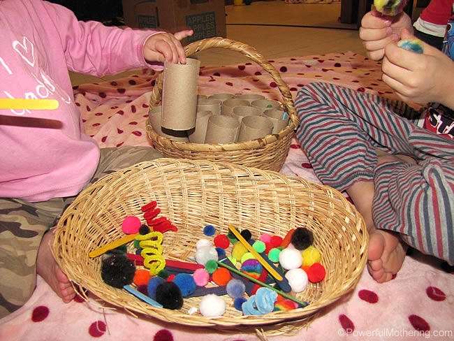 fine motor skills and loose parts