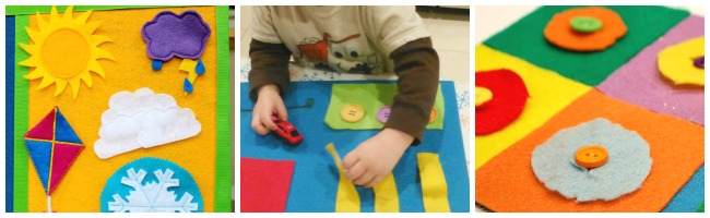 learning to fasten with felt