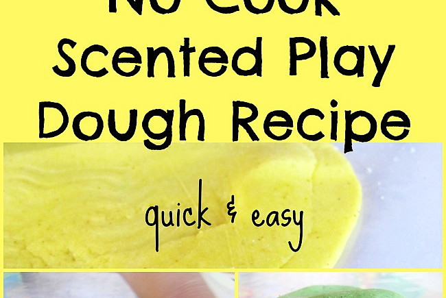 No Cook Scented Play Dough Recipe