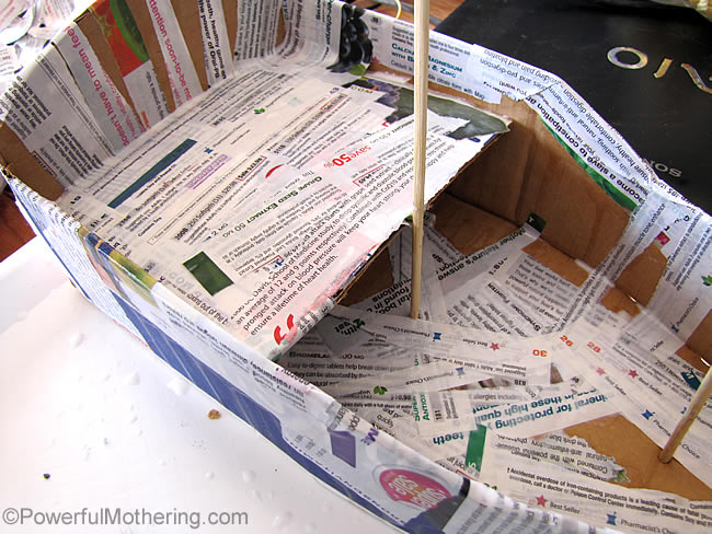 Cardboard Model Boat Template | Diy Pirate Ship