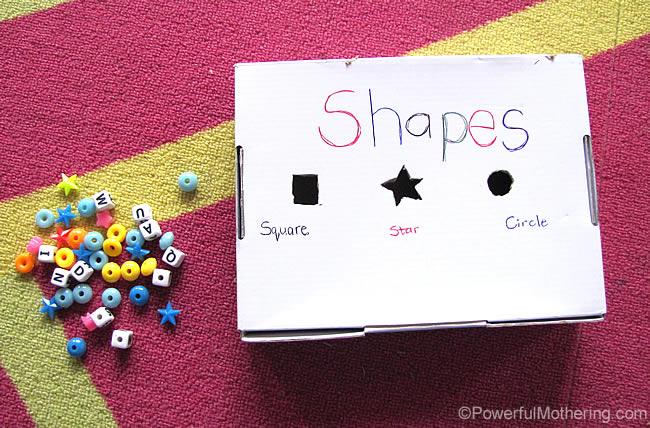 quick and easy shape sorter fine motor skills