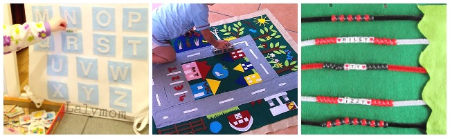 toddlers learning with felt