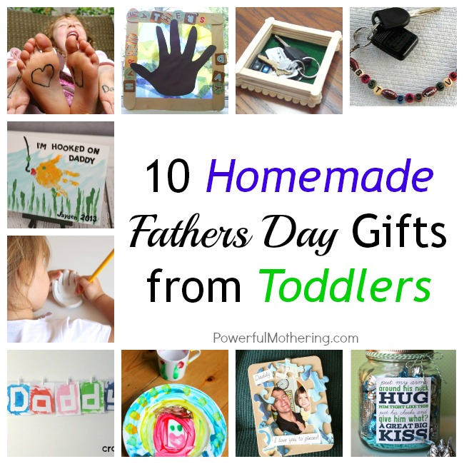 10 homemade fathers day gifts from toddlers for Creative gifts for dad from daughter