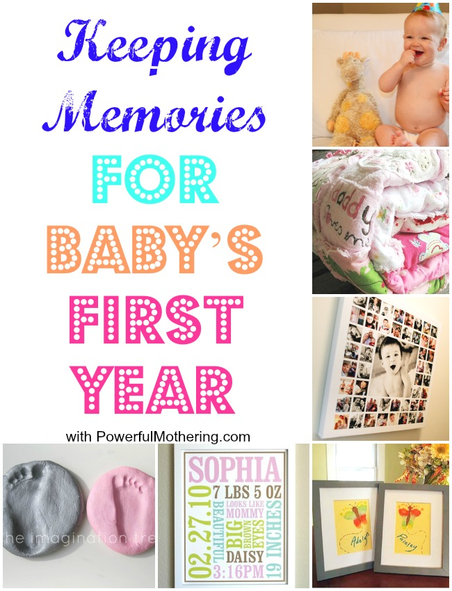 Keeping Memories for Babys First Year