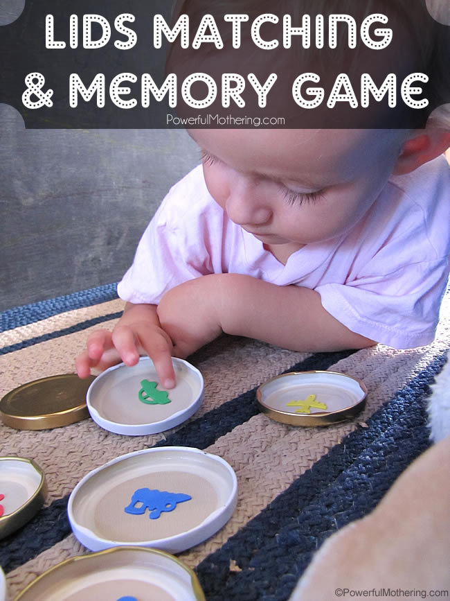 Lids Matching and Memory Game, Great for little ones!
