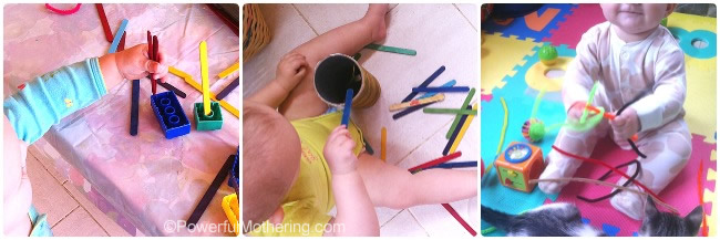 Simple Activities for 6-12 Month Olds with PowerfulMothering.com