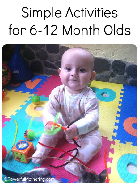 Simple Activities For 6 12 Month Olds