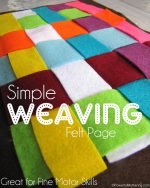 Simple Weaving Felt Page