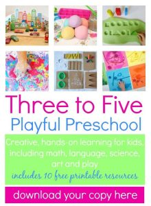 Three to Five Playful Preschool with PowerfulMothering.com