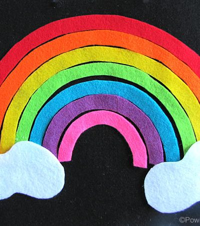 Rainbow Puzzle Felt Page for a no sew fine motor and life skills quiet felt book