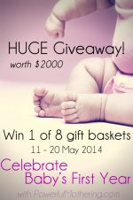 Celebrate Baby's First Year + HUGE Giveaway!