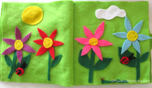 Garden Scene No Sew Quiet Book Page from PowerfulMothering.com
