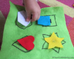 Learning Shapes No Sew Quiet Book Page