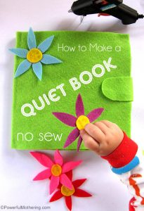 how to make a quiet book the no sew way with PowerfulMothering.com