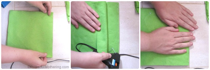 how to put your felt pages together