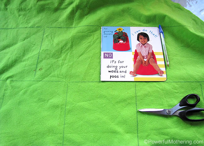 How to make a quiet book the no sew way measure out your pages pronofoot35fo Gallery