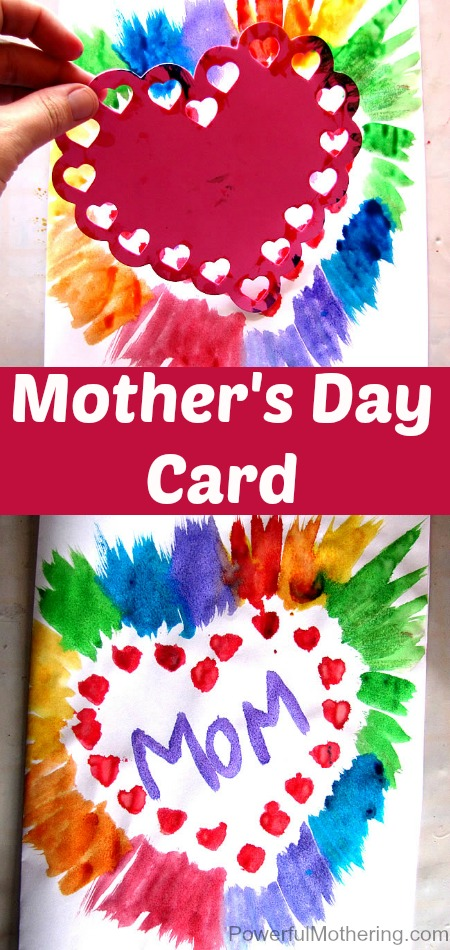 Simple Mothers Day Card Idea for Kids to make