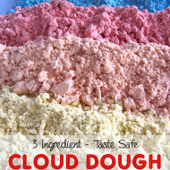 3 Ingredient Taste Safe Cloud Dough Recipe with PowerfulMothering.com