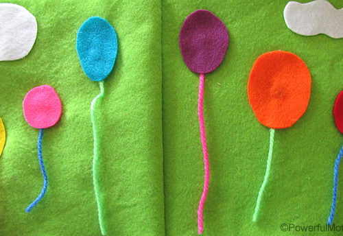 Balloons No Sew Quiet Book Page