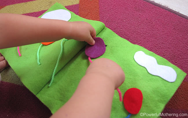 Balloons No Sew Quiet Book Page activity