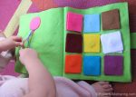 Color Square Matching and Braid the Ribbon No Sew Quiet Book Page